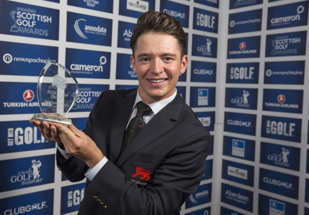 Ewen Ferguson Amateur Golfer of the Year Annodata Scottish Golf Awards