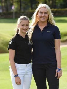 Hannah Golding with Charley Hull.