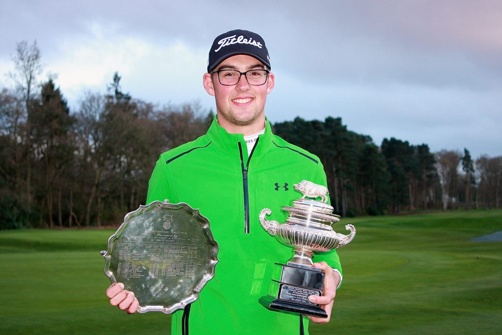 Mitch Waite, winner of the 2018 Hampshire Salver and Hampshire Hog, at North Hants GC.