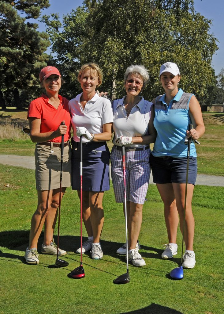 LADIES PRO-AM - R2L Maria Tulley PRO Burhill Members Julie Sykes Ann Scott-Watson Marielle Schram