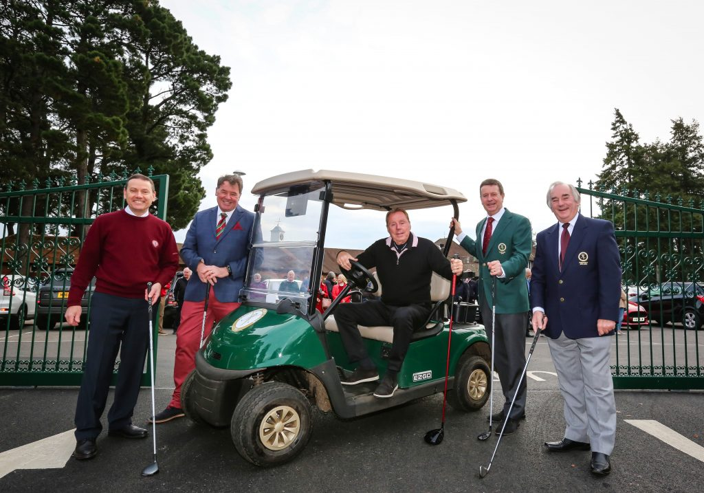 Swinging into action: 'King of the Jungle Harry Redknapp officially opens the new entrance at Ferndown Golf Club watched by (left to right) Ian Walton, General Manager; Trelawney Dampney, Chairman, Policy & Steering Committee; Matt Fleming, Captain, and Stan Randell, President.