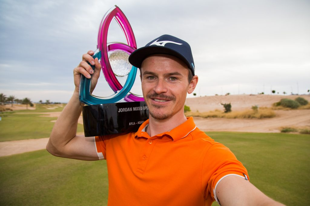 2019 Jordan Mixed Open winner Daan Huizing