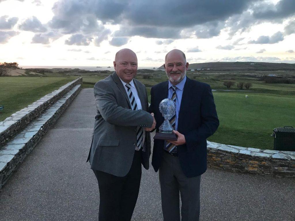 Rob Moss and Asbri Golf PGA CornisH Festival Winner Peter Baker.