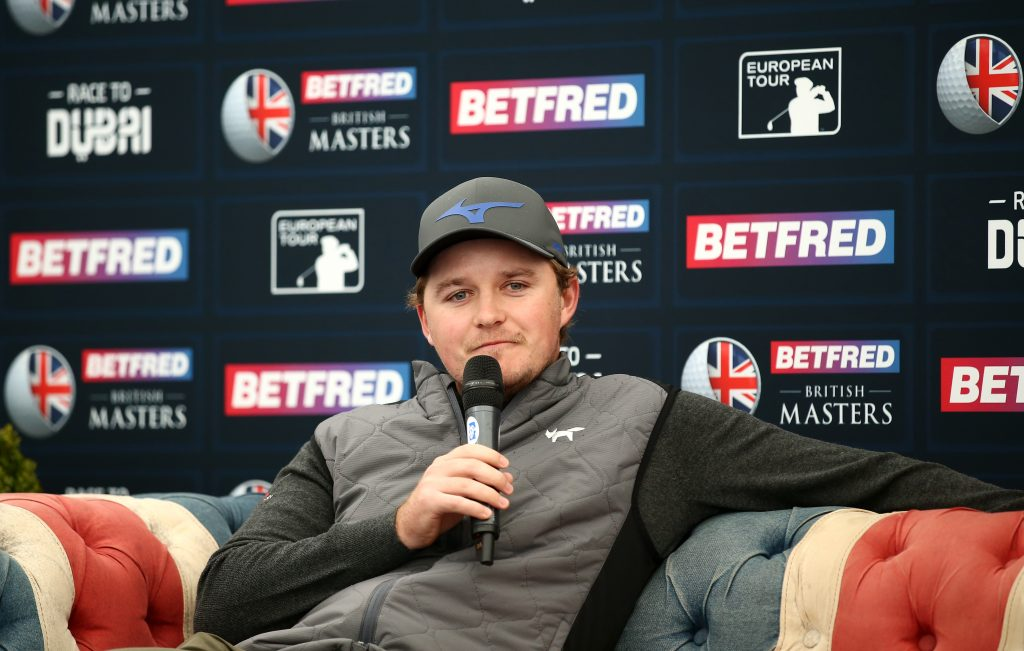 Eddie Pepperell who will defend his Betfred British Masters title at Hillside in May 2019