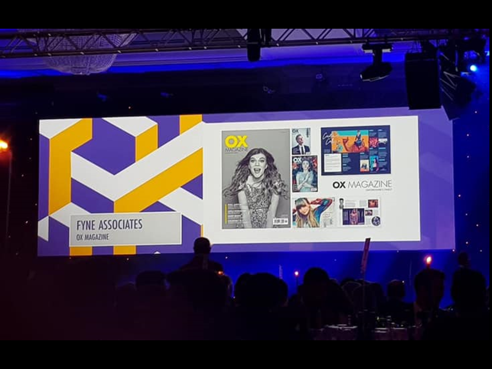 OX Magazine at the British Media Awards 2019