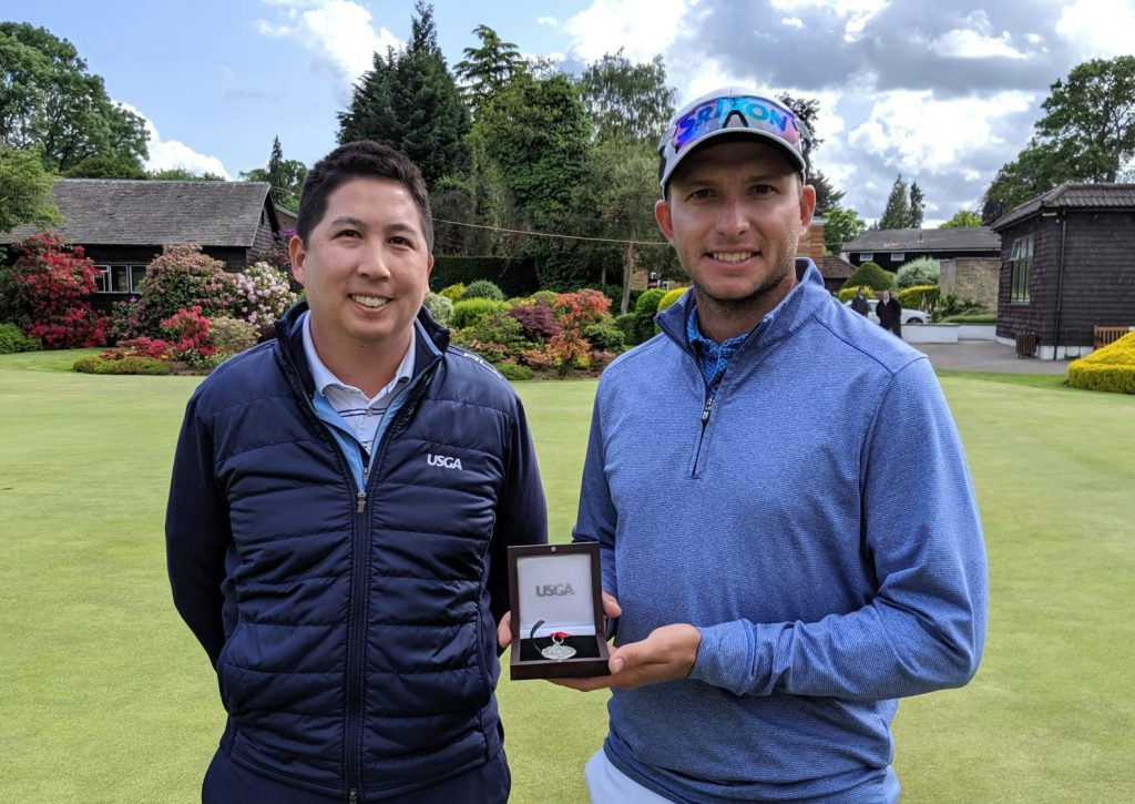 South Africa's Dean Burmester won one of the US Open Sectional Qualifiers at Walton Heath, in June 2019