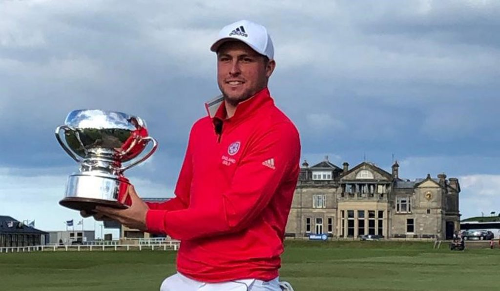 2019 St Andrews Links Trophy winner Jake Burnage, from Saunton Golf Club