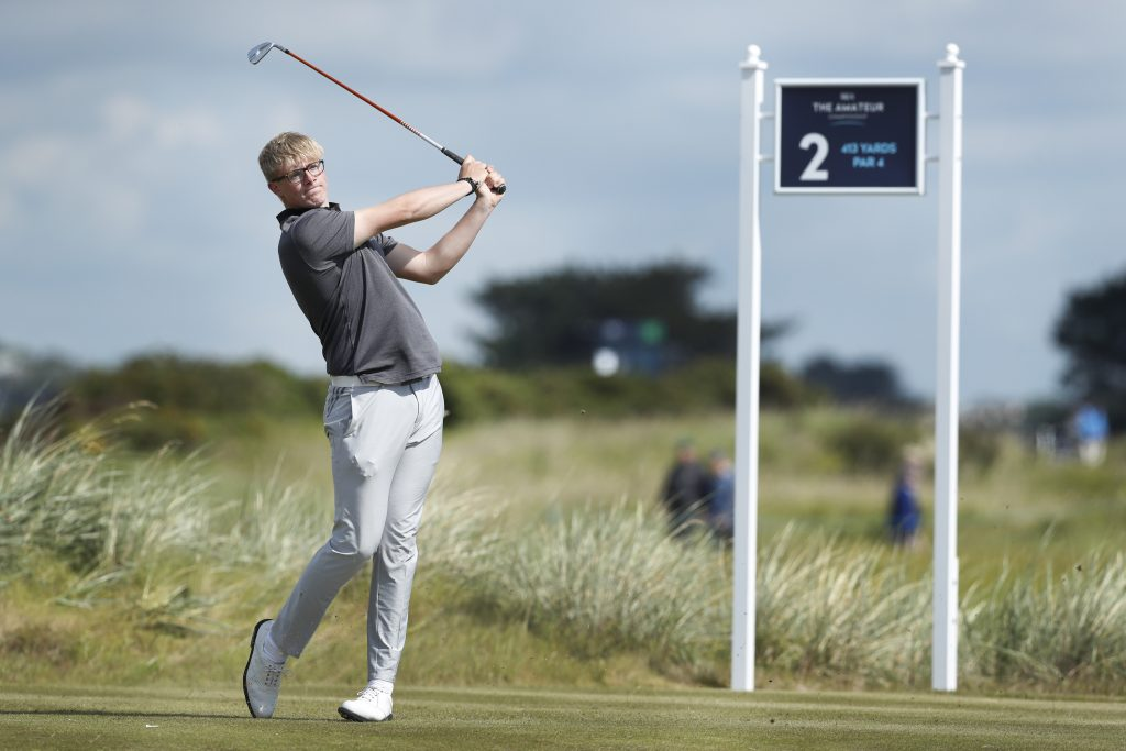 Yeovil's Tom Plumb, the leading qualifier at the 124th Amateur Championship, at Portmarnock Golf Club