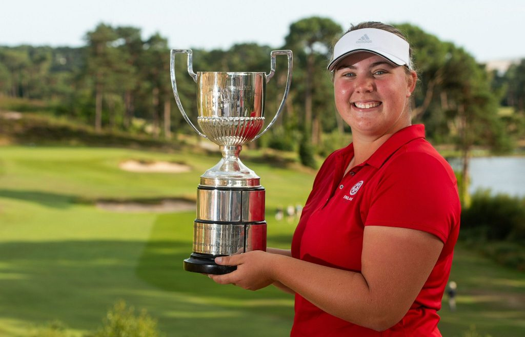 2019 European Ladies Amateur Champion Alice Hewson from Berkhamsted Golf Club