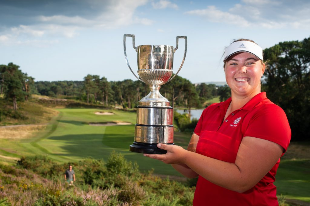 2019 Ladies European Amateur Champion Alice Hewson, from Berkhamsted Golf Club