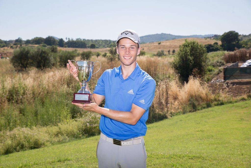 2019 Italian Challenge Open winner Matthew Jordan