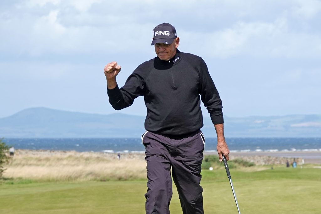 Australian Peter Fowler playing in the Scottish Seniors Open
