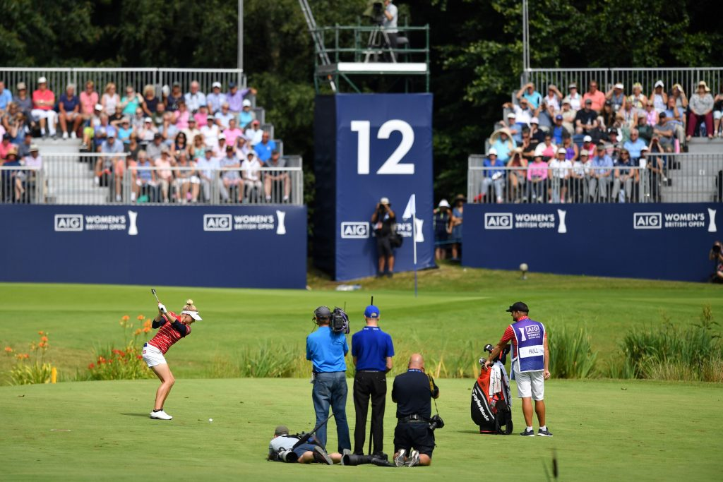 Charley Hull at Woburn Golf Club in the 2019 AIG Women's British Open