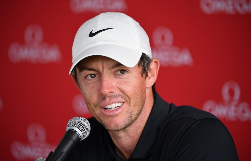 Rory McIlroy before the 2019 Omega European Masters at Crans-sur-Sierre Golf Club
