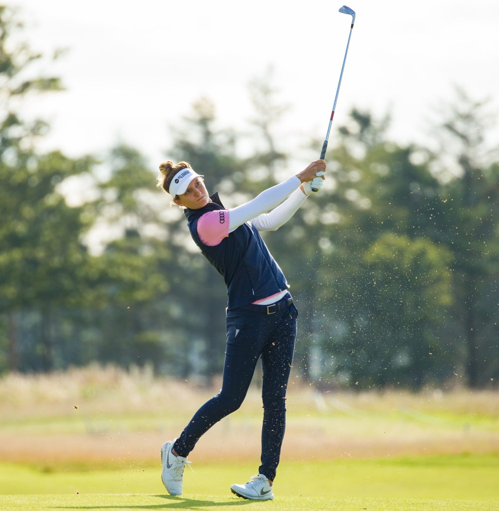 Dutch golfer Anne Van Dam playing in the Scottish Ladies Open at The Renaissance Club