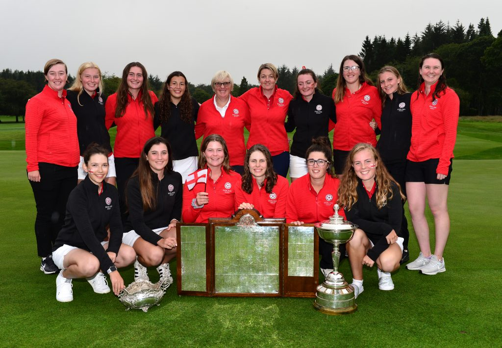 The England Girls and Women's teams at the 2019 Home Internationals