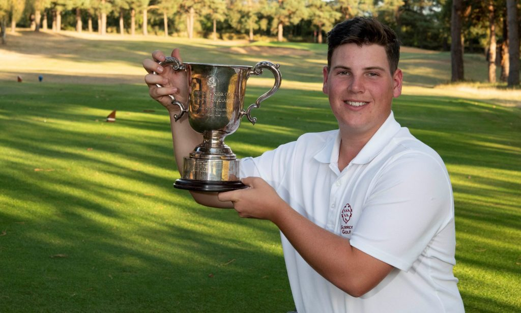 Epsom Golf Club's Ben Patridge winner of the 2019 English Boys' County Champion of Champions title