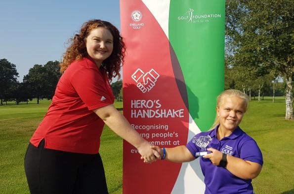 Disabled golfer Ellie Perks from Hagley Golf Club