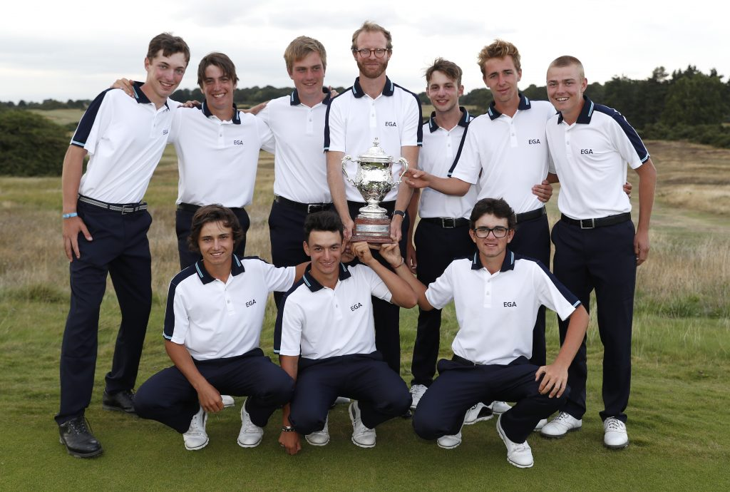 The Continent of Europe team winners of the 2019 Jacques Leglise Trophy