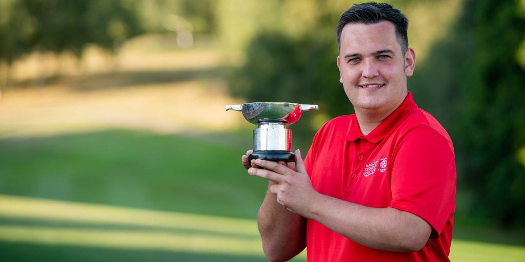 2019 English Disability Open champion George Groves from Surrey's Horne Park Golf Club