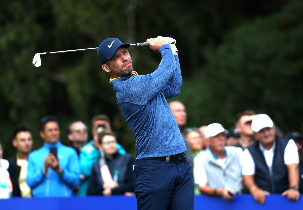 Porsche European Open's joint first round leader Paul Casey