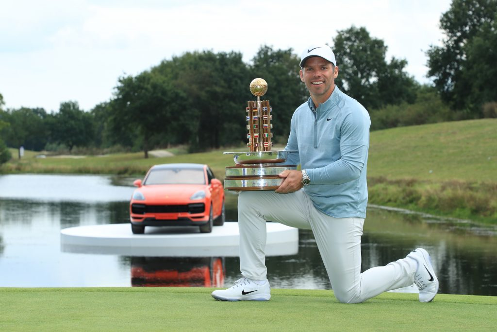 2019 Porsche European Open winner Paul Casey
