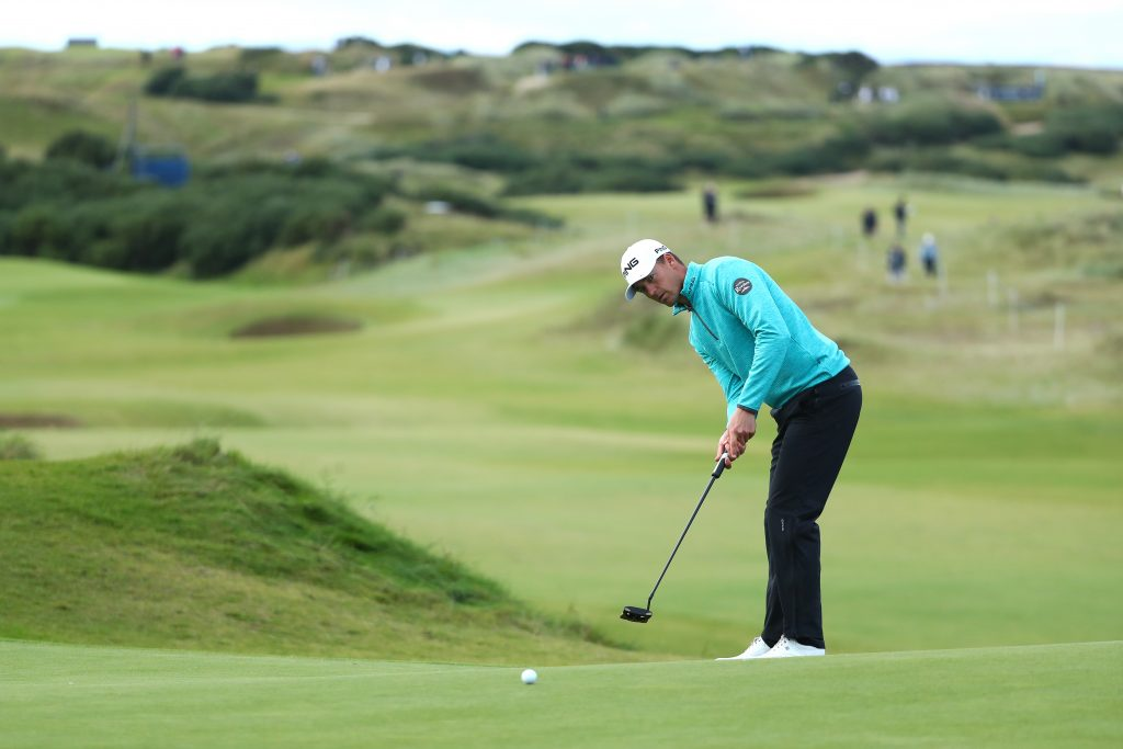 Victor Perez in the 2019 Alfred Dunhill Links Championship at Kingsbarns