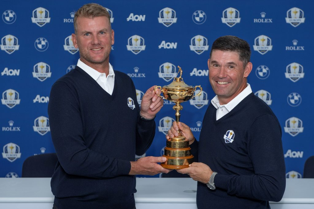 Ryder Cup vice-captain Robert Karlsson (left) and Padraig Harrington, the 2020 European captain at Whistling Straits