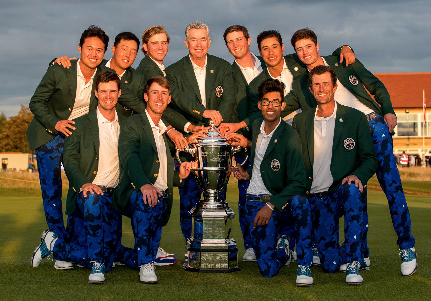 The 2019 Walker Cup winning USA team