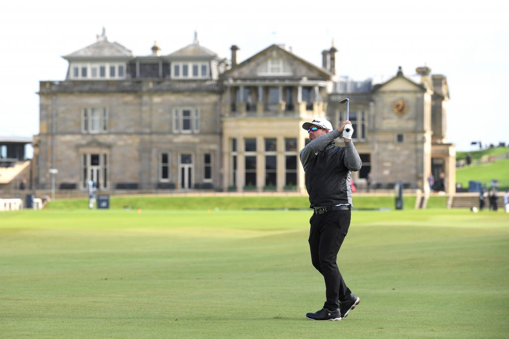 South African Justin Walters playing the Old Course at St Andrews in the 2019 Alfred Dunhill Links