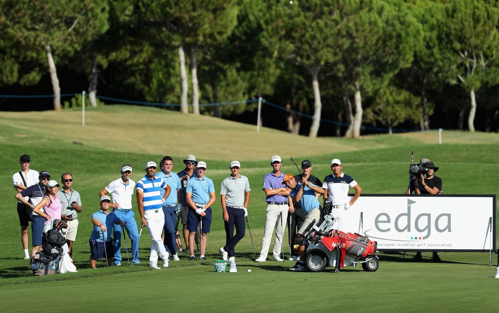 Disabled golfers are now playing in special 36-hole EDGA events alongside European Tour events