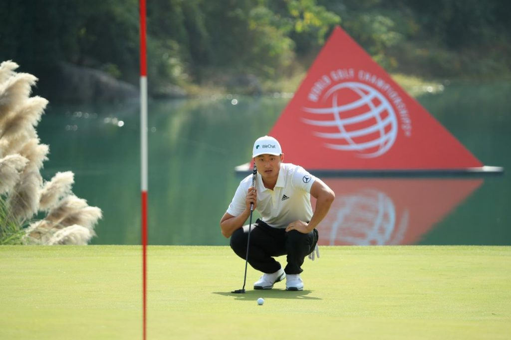 LI Haotong in the first round of the 2019 HSBC Champions