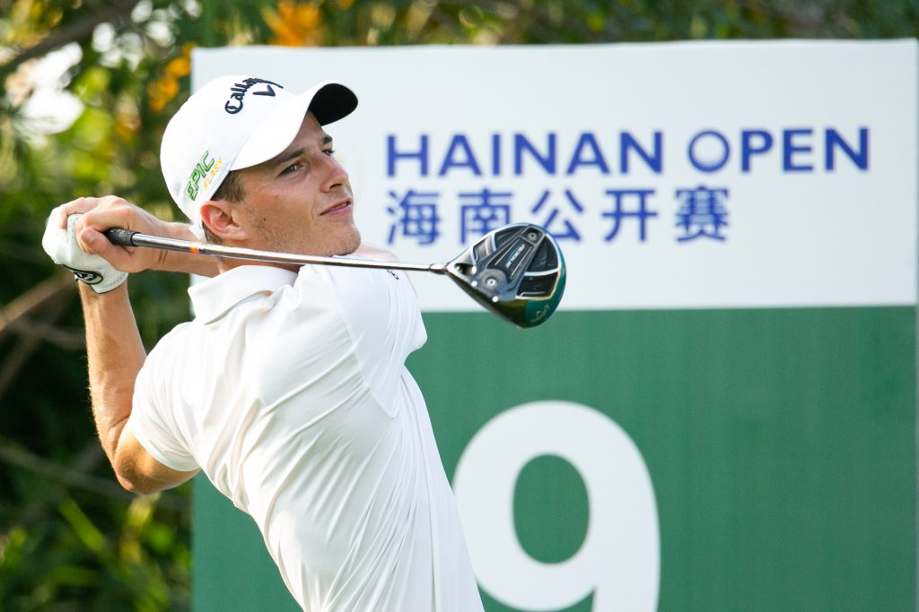 Royal Liverpool's Matthew Jordan playing in the second round of the 2019 Hainan Open