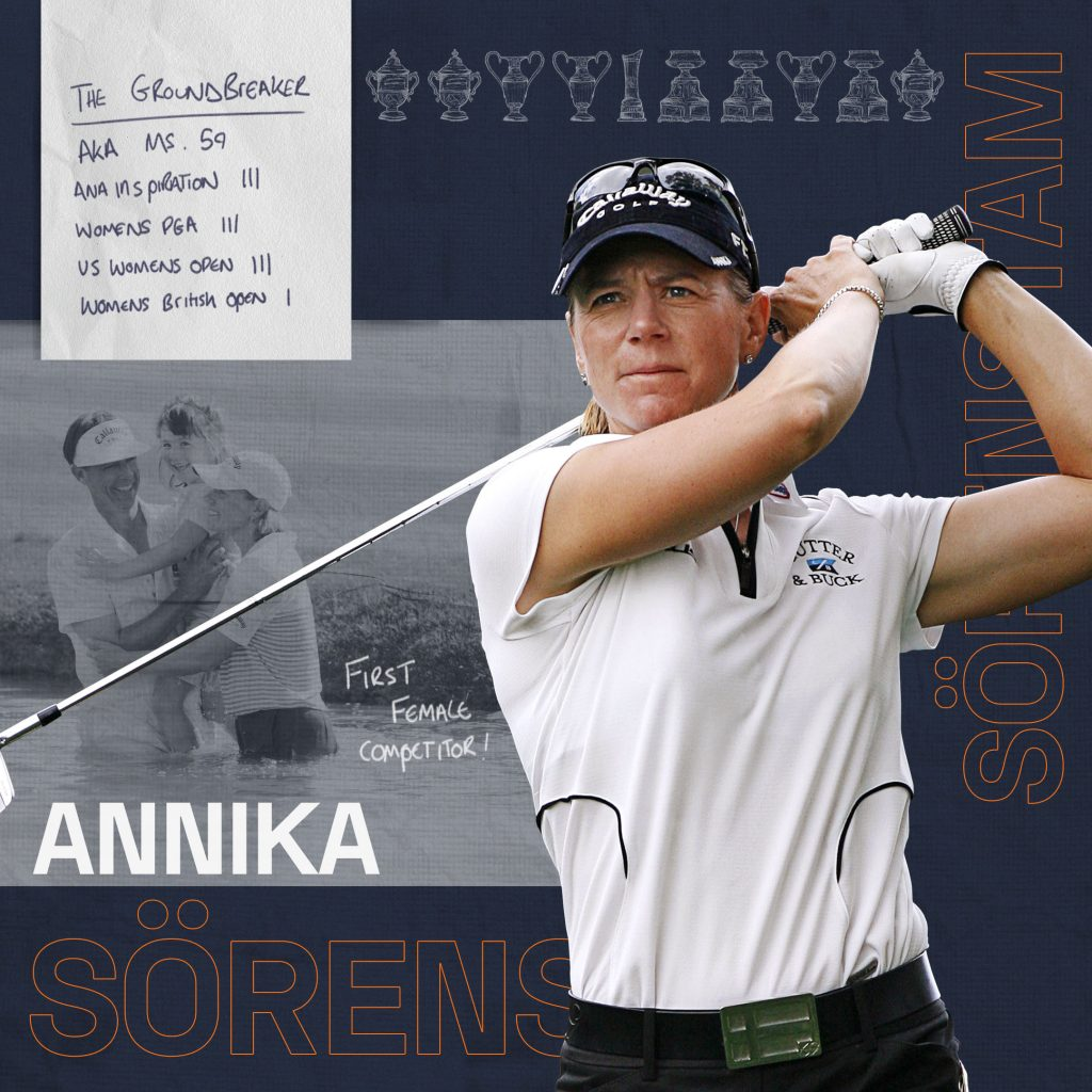 Annika Sorenstam who will make her debut in the 2019 Father Son Challenge