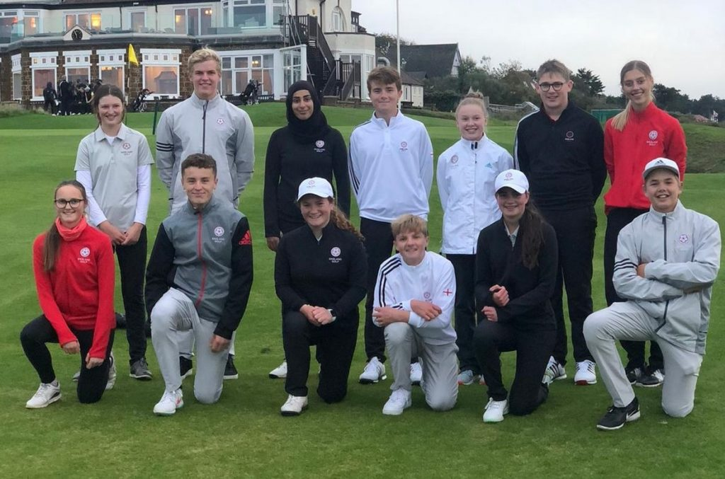 England's U16 team at Hunstanton Golf Club playing against Ireland