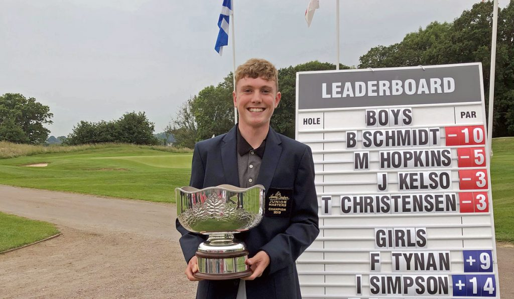2019 Sir Henry Cooper Junior Masters winner Ben Schmidt