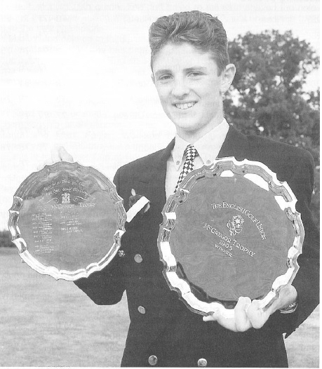 Justin Rose won the McGregor and Carris Trophy in 1995