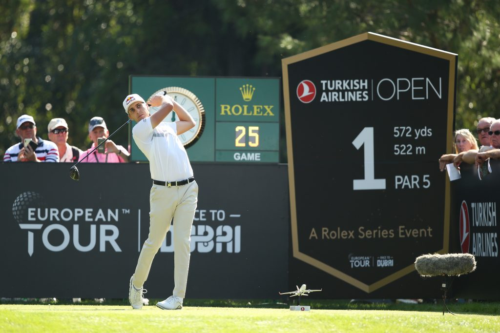 Matthias Schwab in the second round of the 2019 Turkish Airlines Open