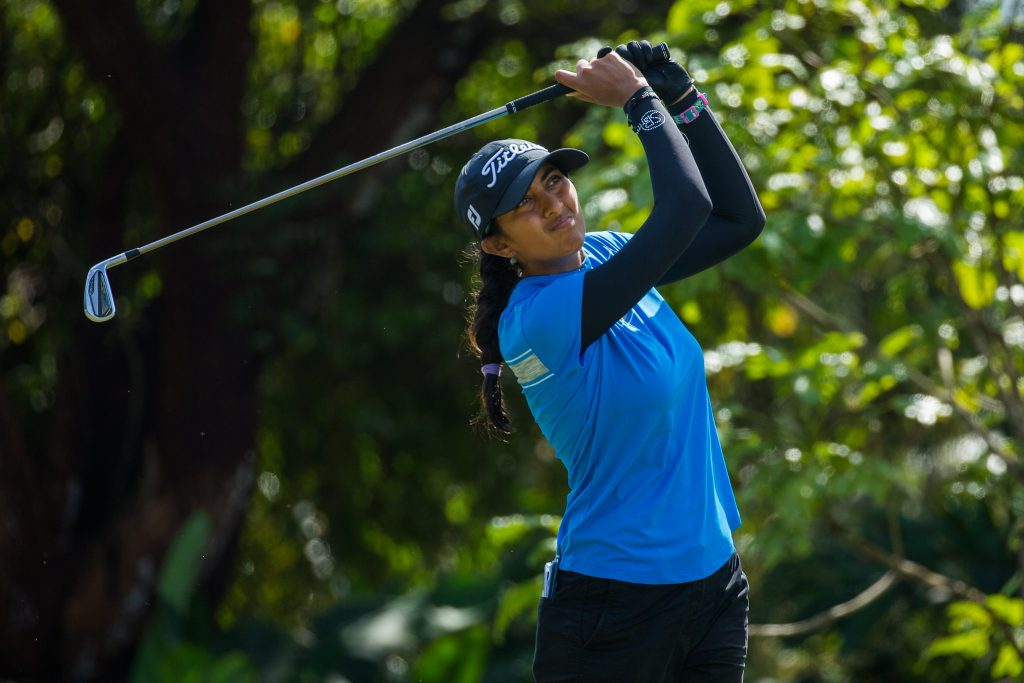 India's Aditi Ashok in the final round of the Magical Kenya Ladies Open