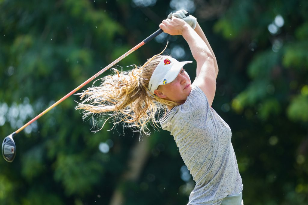 Sweden's Julia Engstrom in the final round of the 2019 Magical Kenya Ladies Open