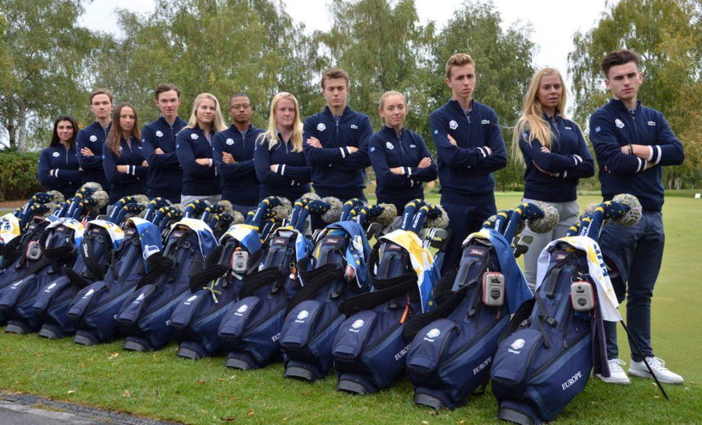 The 2018 European Junior Ryder Cup team at Disneyland Paris Golf