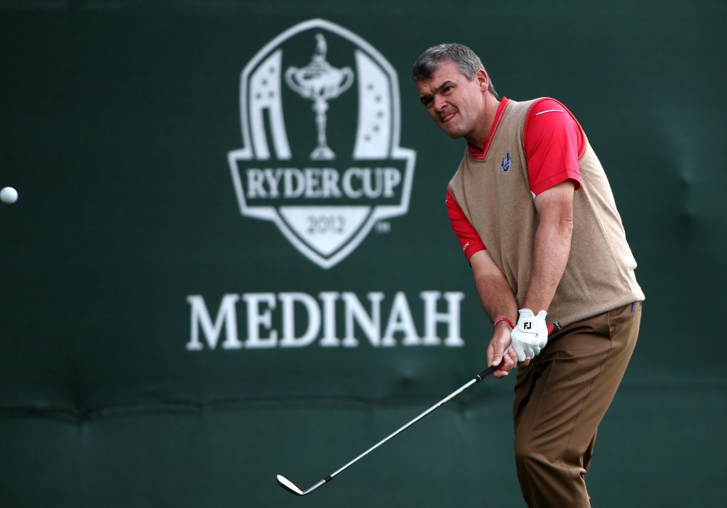 PAUL Lawrie at the 2012 Ryder Cup at Medinah