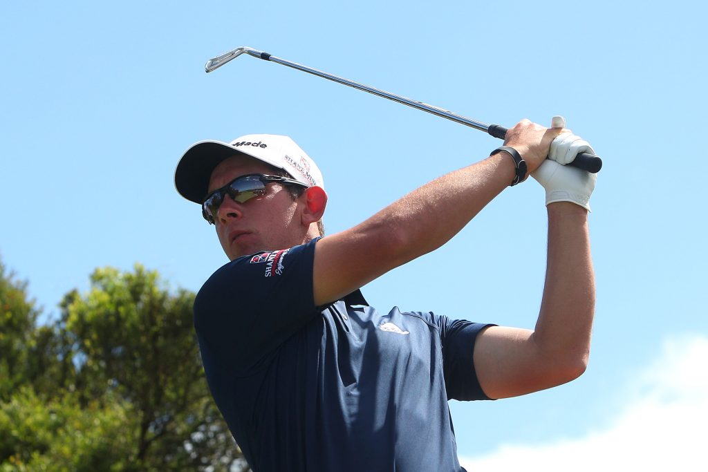 Lucas Herbert first round leader of the 2019 Australian PGA Championship, at RCAV Royal Pines
