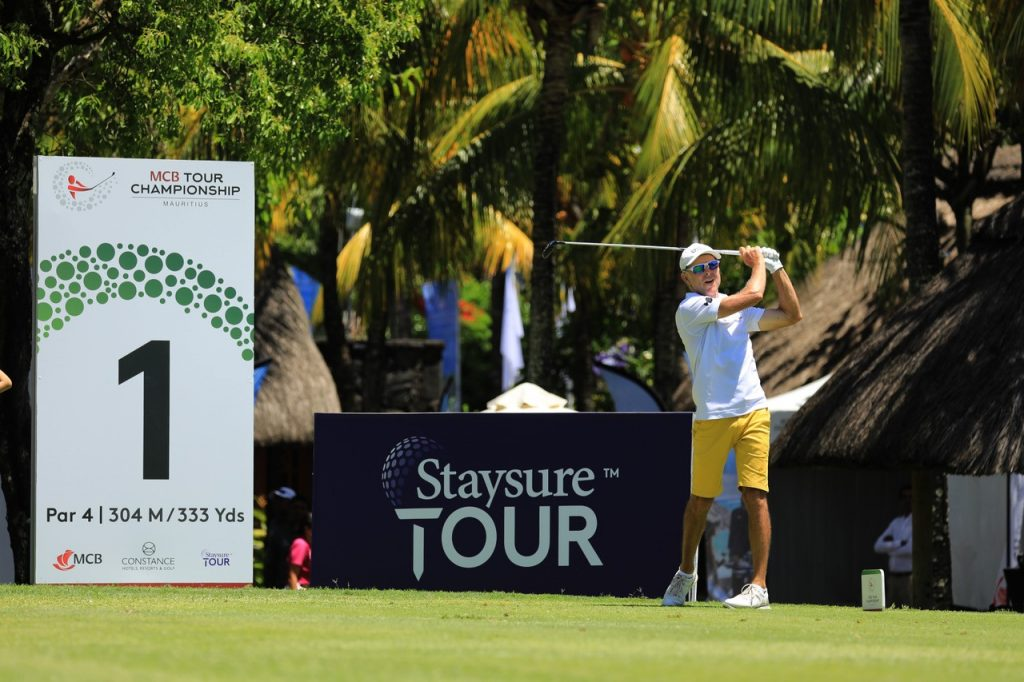 Jean-François Remesy led after the first round of the MCB Tour Championship at Constance Belle Mare Plage
