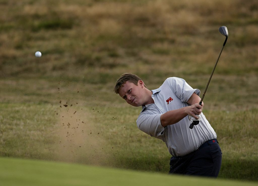 2021 GREAT BRITAIN AND IRELAND WALKER CUP CAPTAIN STUART WILSON PLAYYING AGAINST THE USA AT GANTON IN 2003