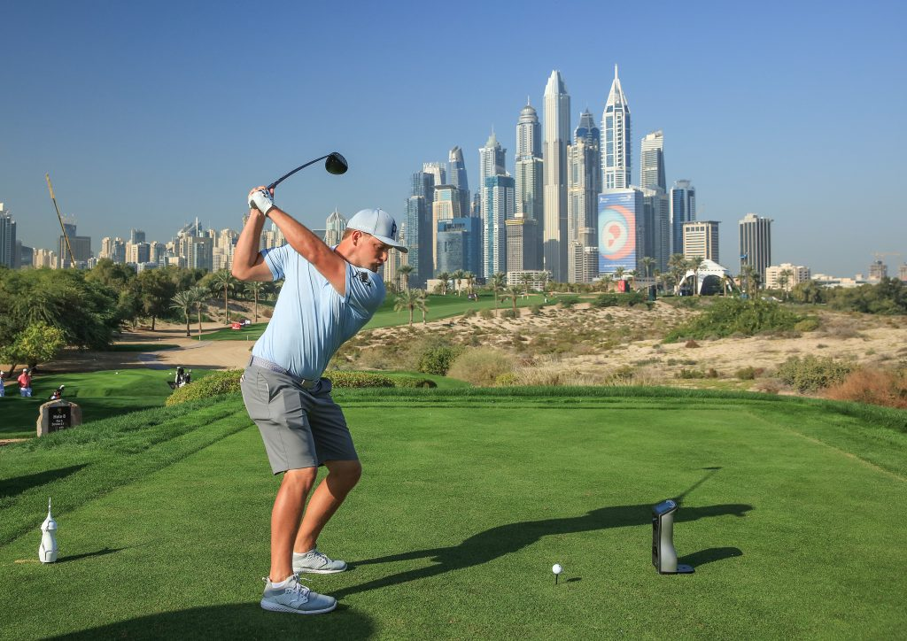 Bryson DeChambeau is using the 2020 Omega Dubai Desert Classic as a warm up for the Major Championships