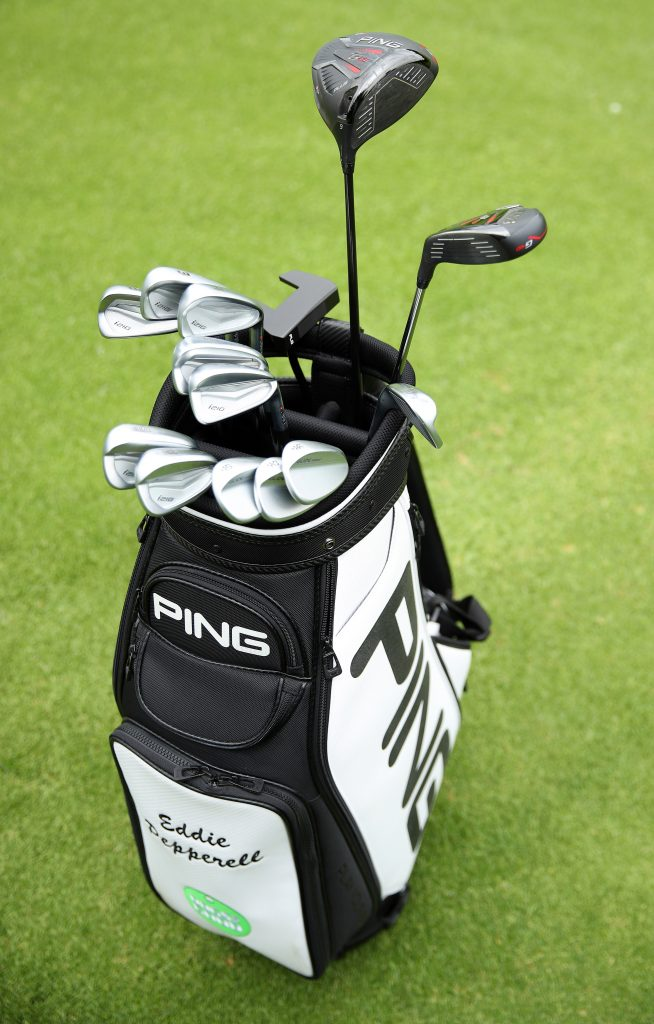 Eddie Pepperell's bag with Ping clubs he will use on the European Tour in 2020