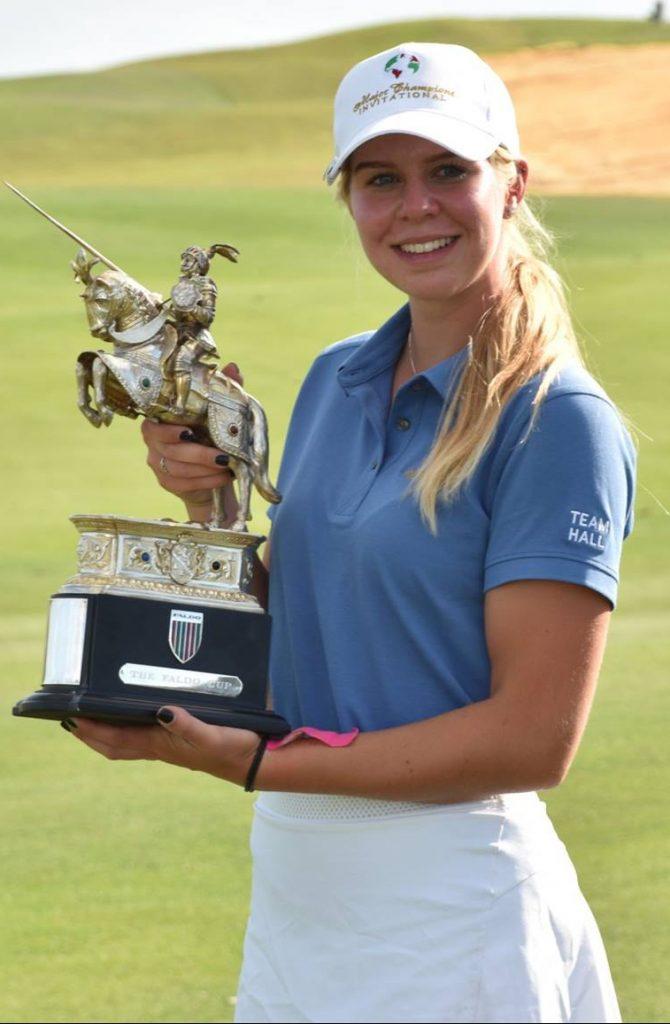 2019 Major Champions Invitational winner Annabell Fuller, from Roehampton Golf Club