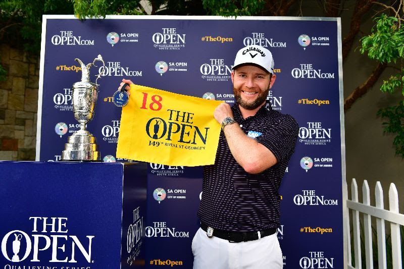 2020 South African Open winner Branden Grace will play in the Open Championship at Royal St George's