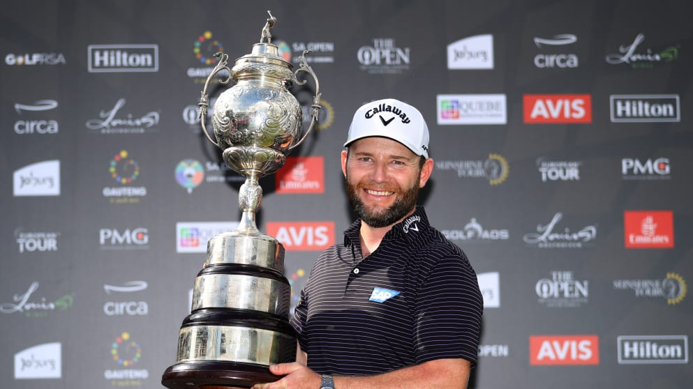 BRANDEN GRACE THE 2020 SOUTH AFRICAN OPEN WINNER HAS COMPLETED THE SOUTH AFRICAN SLAM AFTER WINNING THE ALFRED DUNHILLL CHAMPIONSHIP, THE NEDBANK, JOBURG OPEN AND DIMENSION DATA PRO AM